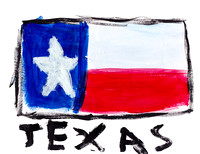 Texas Flag painting transparency